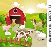 vector illustration of farm... | Shutterstock .eps vector #128776493