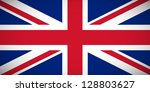 National flag of the United Kingdom of Great Britain and Northern Ireland with correct proportions and color scheme