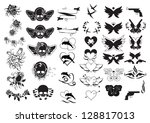 tattoos   set   isolated on... | Shutterstock .eps vector #128817013