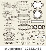 vector set of calligraphic... | Shutterstock .eps vector #128821453