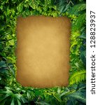 wild jungle border frame with...   Shutterstock . vector #128823937