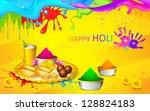 illustration of happy holi... | Shutterstock .eps vector #128824183