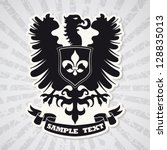 heraldic coat of arms | Shutterstock .eps vector #128835013
