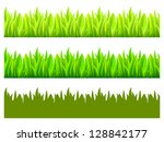 reflected vector grass pattern | Shutterstock .eps vector #128842177