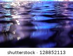 Blue And Violet Water Surface...