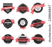 vintage design elements. labels ... | Shutterstock .eps vector #128868847