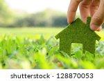 eco house icon concept | Shutterstock . vector #128870053
