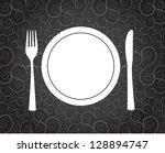 dinner symbol over vintage...