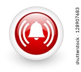 alarm red circle glossy web... | Shutterstock . vector #128907683