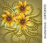 wedding card or invitation...   Shutterstock .eps vector #128928353