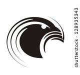 unique graphic of eagle. bird... | Shutterstock .eps vector #128935343