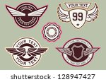 wing classic vintage | Shutterstock .eps vector #128947427