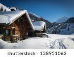 Wooden Houses On Austrian...