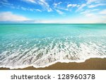Sea shore at summer sunny day - stock photo