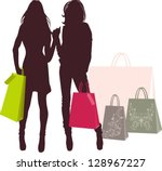shopping | Shutterstock .eps vector #128967227
