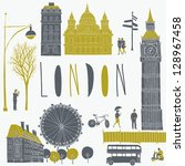 Vector London symbols - stock vector
