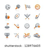 Sports Icons // Graphite Series - stock vector