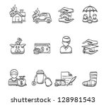 icons in sketch | Shutterstock .eps vector #128981543