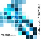 abstract blue colorful mosaic... | Shutterstock .eps vector #128995847