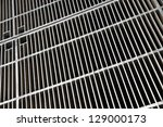 a metal grid floor in sao paulo ... | Shutterstock . vector #129000173