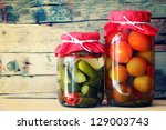 traditional russian cuisine  ... | Shutterstock . vector #129003743
