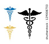 caduceus medical symbol . | Shutterstock . vector #129008753