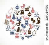 toy icons | Shutterstock .eps vector #129019403