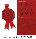 wax seal     years guaranty.... | Shutterstock .eps vector #129022457