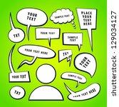 vector doodle speech bubbles. | Shutterstock .eps vector #129034127
