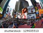 new york city   february 16  ... | Shutterstock . vector #129035513