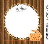 recipe card | Shutterstock .eps vector #129042143