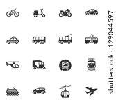 transportation icons | Shutterstock .eps vector #129044597