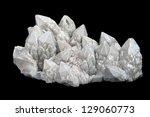 druze of quartz crystals with... | Shutterstock . vector #129060773