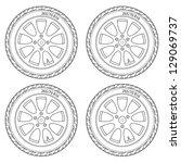 car wheel  vector illustration   Shutterstock .eps vector #129069737