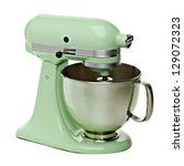Green Stand Mixer With Clippin...