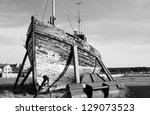 Old Ruined Boat At Burghead...
