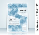 abstract flyer or cover design  ... | Shutterstock .eps vector #129086297