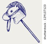 Toy Horse. Doodle Style. Raste...