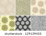 set of six seamless colorful... | Shutterstock .eps vector #129139433