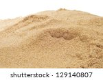 Closeup Of A Pile Of Sand On A...