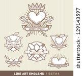 line art labels | Shutterstock .eps vector #129143597