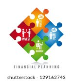financial planning illustration ... | Shutterstock .eps vector #129162743