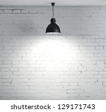 Brick Wall And Ceiling Lamp