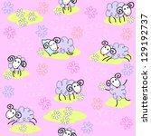 seamless pattern with cute... | Shutterstock . vector #129192737