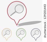 illustration web  buttons... | Shutterstock . vector #129201443