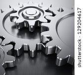 gear wheels on metal surface | Shutterstock . vector #129204617