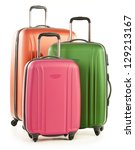 luggage consisting of large... | Shutterstock . vector #129213167