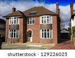 Large brick detached house in Swindon, UK - stock photo