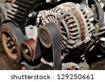 Car alternator. - stock photo