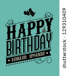 Birthday typography template vector/illustration - stock vector